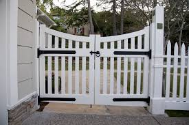 white fence gate hinges