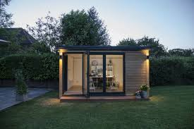home office in the garden. View In Gallery Small Office Pod 900x599 21 Modern Outdoor Home Sheds You Wouldnt Want To Leave The Garden