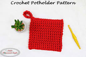Double Thick Crochet Potholder Pattern Delectable Free Crochet Potholder Pattern Using Thermal Stitch Nicki's