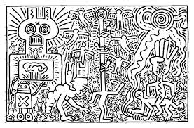 Small Picture Keith haring 2 Master pieces Coloring pages for adults JustColor