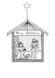 Free Printable Nativity Scene Coloring Pages ...