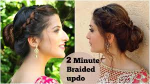 Different Bun Hairstyles 2 Minute Easy Braided Bun Hairstyle For Diwali Kareena Kapoor