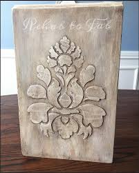 appliques for furniture. raised stencil with bondo she started playing around stencils because appliques for furniture u