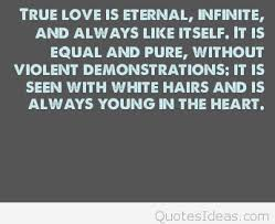 true love is eternal saying