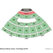 Blossom Music Center 3d Seating Chart 54 Particular Blossom Music Center Seating Chart Pit