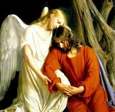 Image result for pictures of angels ministering to Christ