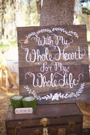 hand painted wooden signs rustic wedding