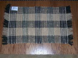 plaid rug plaid black and khaki rag rug 2 x 3 plaid rug