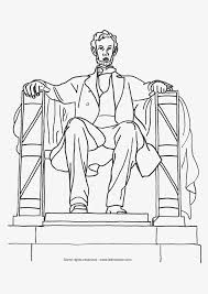 Coloring Page Of Monument Abraham Lincoln