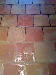 ... Before and after Quarry tile and grout cleaning in Kersey
