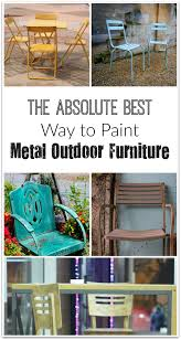 people are starting to think about fixing up their yards and outdoor furniture if you re thinking about painting your metal outdoor furniture here