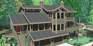 front sloping lot house plans lake house plans on a slope inspirational re sloped lot house