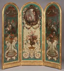 a highly decorative screen in the classic manner