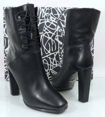 Designer Black Booties Diane Von Furstenberg Paden Designer Lace Up Ankle Boots Booties Black Size 9