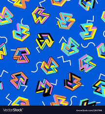 80s Pattern Mesmerizing Pattern 48s Seamless Background Retro Royalty Free Vector