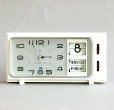 retro desk clock vintage alarm clock flip calendar clock new old stock nos diamond shanghai china retro desk clock