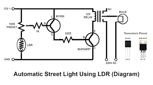 Ldr Circuit Diagram For Street Light How To Make Automatic Street Light Using Ldr Science Project