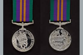 aculated caign service medal 2016