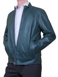 mens luxury leather er jacket blue