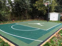 Outdoor surfaces are generally made from standard paving materials such as concrete or asphalt. Sport Court 18 X 27 Compact Fiba Half Court Basketball Key Game Courts Garden Courts Tennis Court Resurfacing Hexacourt Sport Court