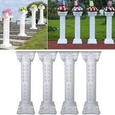 4 sets disassemblability photography props plastic roman pillars column pedestal party decoration wedding road lead party diy decorations