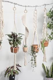 macrame plant hanger large wall planter