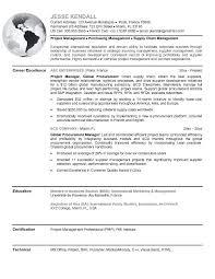 Procurement Manager Resume Free Resume Templates 2018