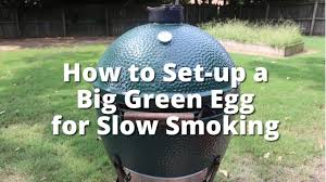 Big Green Egg Turkey Cooking Chart Smoke In A Big Green Egg How To Set Up A Big Green Egg For Slow Smoking With Malcom Reed