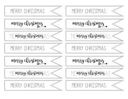 Merry Christmas Tag Free Printable - Paper Trail Design