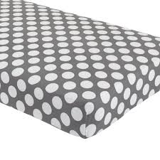 organic not a peep yellow and white dot crib fitted sheet  the