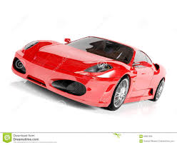 Red Sport Car On White Background. Race, Speed.