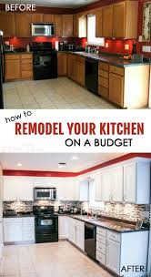 How To Remodel Your Kitchen On A Budget Cabinets Decorating - Easy kitchen remodel