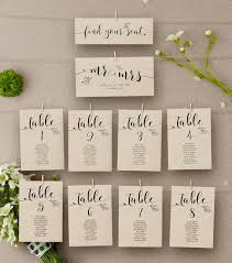 Etsy Wedding Seating Chart Rustic Wedding Seating Chart Template Floral Kraft Wedding Table Numbers Seating Plan Template Table Assignment Card Ab07_01_006