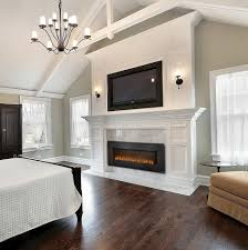 Bedroom:Exciting Astonishing Electric Fireplace For Master Bedroom Pictures  Design Pics Designs Modern Decor Corner