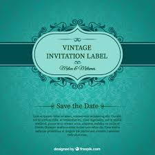 invitations cards free green wedding invitation card vector free download