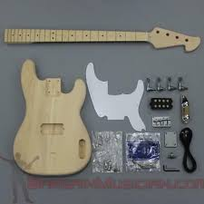 guitar builder luthier supply bass guitar kit bargain musician bk 008 diy unfinished project luthier bass guitar kit