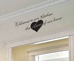 wall art decal sticker quote vinyl removable large welcome to our kitchen ki32 on wall art decals quotes for kitchen with wall art decal sticker quote vinyl removable large welcome to our
