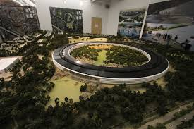 cupertino apple office. apple has a roomsize model of the new campus in building on site cupertino office