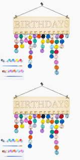 DIY Colorful Wooden Birthday Calendar Reminder Board Wall Hanging