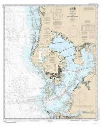 Tampa Bay To St Joseph Sound 2015 Nautical Map Tarpon Springs St Petersburg Bradenton Florida 80000 At Chart 11412 Reprint