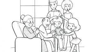 Bộ sưu tập tranh tô màu gia đình giúp bé tập tô