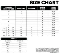 Nike Football Size Chart Nike Size Chart Youth Bedowntowndaytona Com
