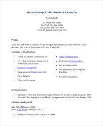 Resume Format For Hotel Job Pdf Resume