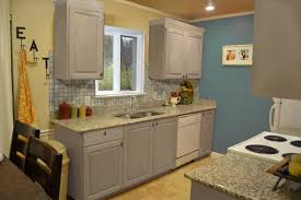 Blue Painted Kitchen Cabinets Gray Painted Kitchen Cabinet Ideas Miserv