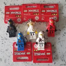 Year 2011 Lego Ninjago Cole Sensei Wu Kai Jay Zane Complete Keychain From  The Lego Ninjago TV Series Not Movie