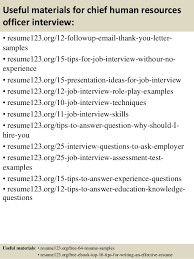 ... 14. Useful materials for chief human resources officer ...