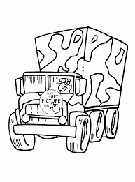 cartoon military truck coloring page for kids transportation coloring pages printables free