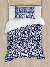 navy blue duvet cover set twin queen king sizes with