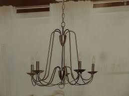 allen roth wintonburg 5 light brushed nickel williamsburg candle chandelier