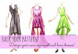 How To Make A Dress Pattern Delectable How To Draft Your Own Asymmetrical Hem Dress Pattern This Blog Is